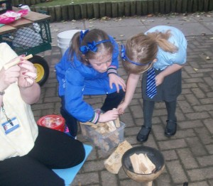 Campfire nights are a favourite with the children!